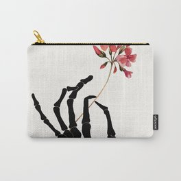 Skeleton Hand with Flower Carry-All Pouch