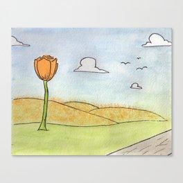 Flower Orange Canvas Print
