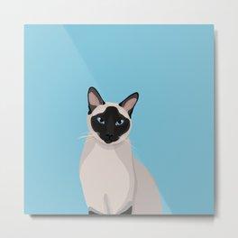 The Regal Siamese Cat Metal Print