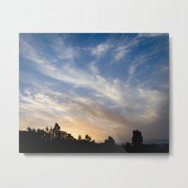 Soft City Sunset Metal Print