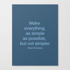Simpler Canvas Print