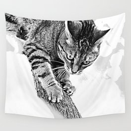 Sharpen their claws Wall Tapestry