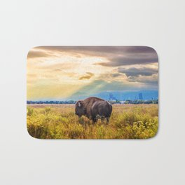The Great American Bison Bath Mat