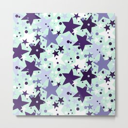 Fun pattern with stars and twinkle lights Metal Print