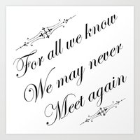 For all we know Art Print