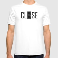 CLOSE White MEDIUM Mens Fitted Tee