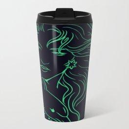 Lady on a Dolphin Metal Travel Mug