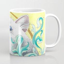Hiding Cat Watercolor Painting Coffee Mug