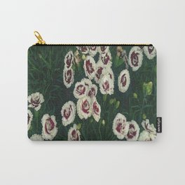 Red & White Flowers Carry-All Pouch