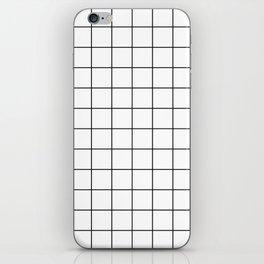 Grid Simple Line White Minimalist iPhone Skin