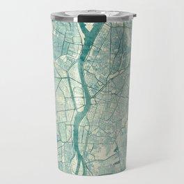 Cairo Map Blue Vintage Travel Mug