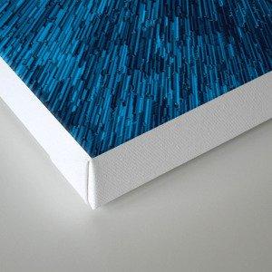 Bold Burst in Blue Canvas Print