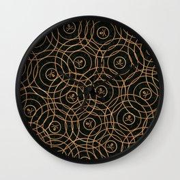 Random Rings Rose Gold Wall Clock