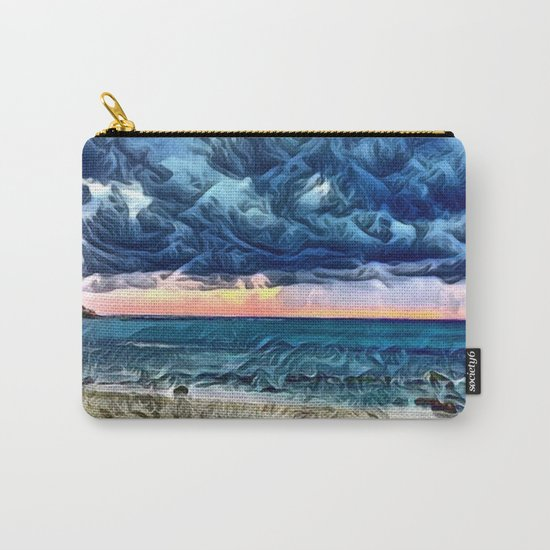 Pastel Sunset on the Beach of the Pacific Ocean Carry-All Pouch