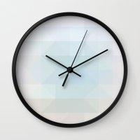 heaven Wall Clocks featuring Heaven by allan redd