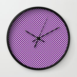 Winterberry and White Polka Dots Wall Clock