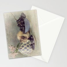 Snoozy loves grapes Stationery Cards