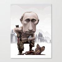 putin Canvas Prints featuring Putin by cristosalgado