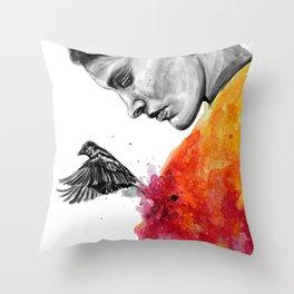 Goodbye depression Throw Pillow