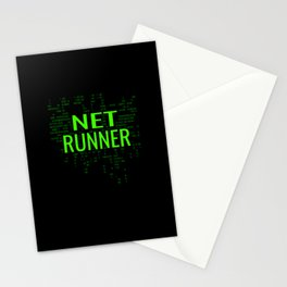 Netrunner Programmer IT Computer Administrator Stationery Cards