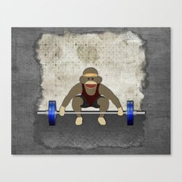 Sock Monkey Bodybuilder Canvas Print