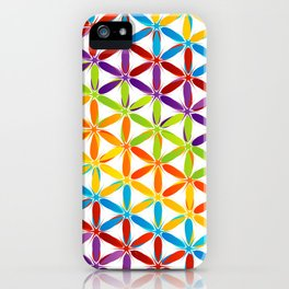 Colorful geometry pattern with stars and sparkles iPhone Case