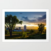 Sunset over the Sugar Mill Art Print