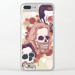 Lebowski Skulls Clear iPhone Case