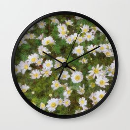 Daisies In Spring Wall Clock