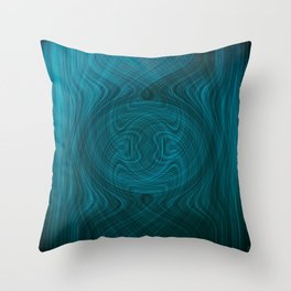Disturbance in water Throw Pillow