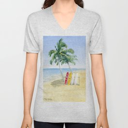 Tropical View Unisex V-Neck