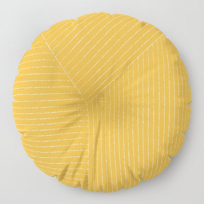 Lines / Yellow Floor Pillow