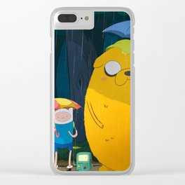 my neighbor time Clear iPhone Case