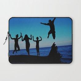 Brownie's beach silhouette Laptop Sleeve