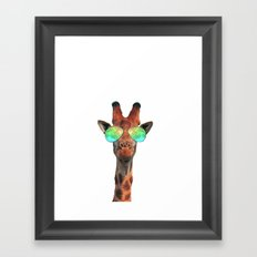 Dolla Dolla Bill Giraffe Framed Art Print