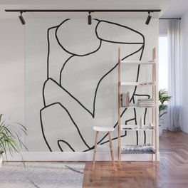 Abstract line art 2 Wall Mural