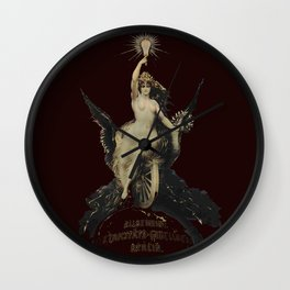 Vintage 19th century, Berlin Electricity Advertisement Wall Clock