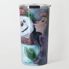 Kiss a snowman Travel Mug