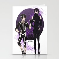 yaoi Stationery Cards featuring Skelender by Jackce