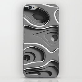 Gray Space iPhone Skin