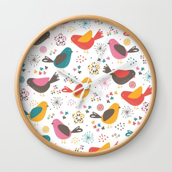 Quirky Chicks Wall Clock