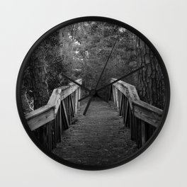Burn a Bridge Wall Clock