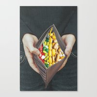 pills Canvas Prints featuring pills by marzesu collages