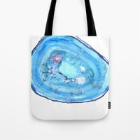 agate Tote Bags featuring Agate by sadiesavestheday