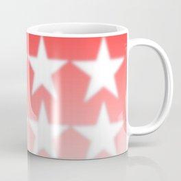 Red and White Stars, Faded Stars, Patriotic Coffee Mug