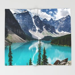 Lake Moraine Banff Throw Blanket