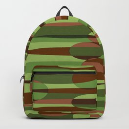 Trendy Green and Brown Camouflage Spheres Backpack