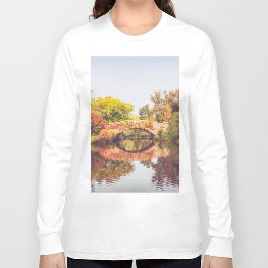 New York City Autumn Bridge Long Sleeve T-shirt