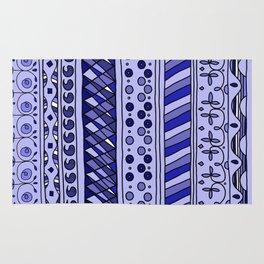 Yzor pattern 002 blue Rug