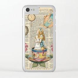 It's Always Tea Time - Alice In Wonderland Clear iPhone Case